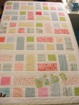 Girls cot bed quilt